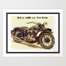 1937 BSA. Motorcycle Art Print