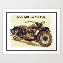 1937 BSA. Motorcycle Art Print
