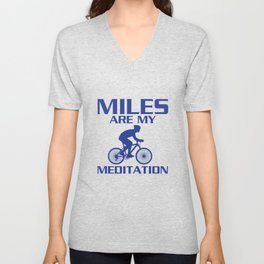 Miles are My Meditation Graphic Cycling T-shirt Unisex V-Neck