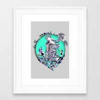 cityscape Framed Art Prints featuring Cityscape by infloence