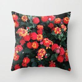 A Bush of Lantanas Throw Pillow
