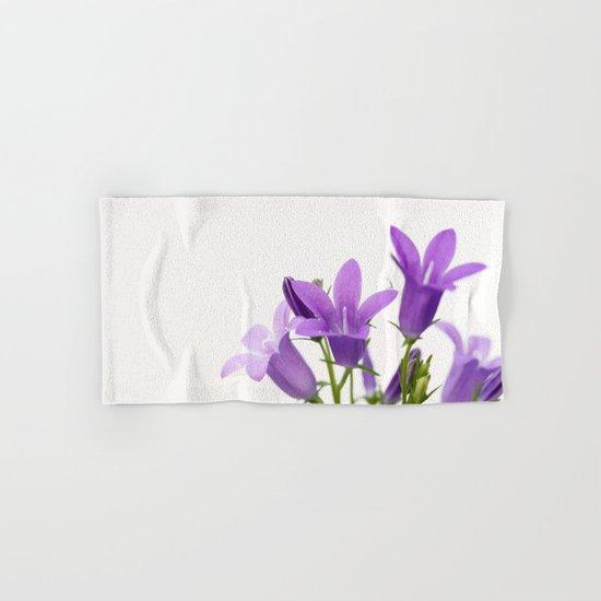 PURPLE FLOWERS - Bellflowers #2 #decor #art #society6 Hand & Bath Towel