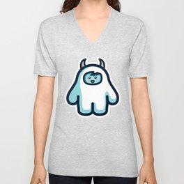 Kawaii Cute Abominable Snowman Yeti Unisex V-Neck