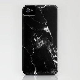 Black Marble I iPhone Case