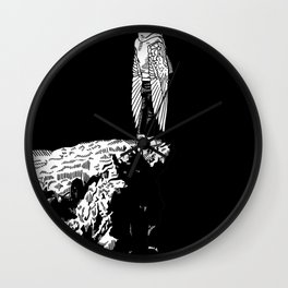 Icarus (black) Wall Clock