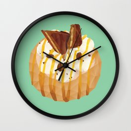 Tim Tam and Coffee Donut Polygon Art Wall Clock