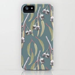 Eucalyptus Gumnuts & Leaves iPhone Case