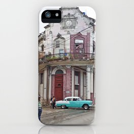 Cuba Architecture Caribbean Isla Latin America Spanish Architecture Vintage Car Cuban iPhone Case