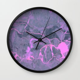 Grey and Pink Marble Wall Clock