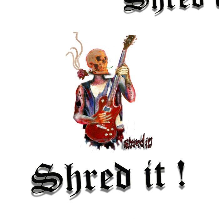 Shred it Skull guitar player  Leggings