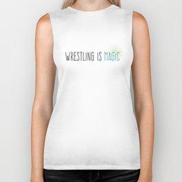 Wrestling is Magic Biker Tank