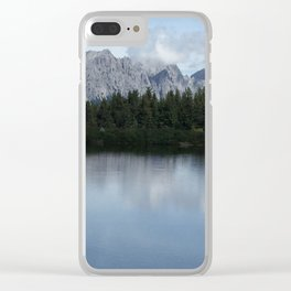 Silver mountain lake Clear iPhone Case