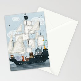 a nautical adventure Stationery Cards