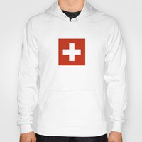 switzerland Hoodies featuring Switzerland country flag by tony tudor