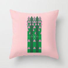 Vegetable: Asparagus Throw Pillow