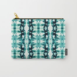 Tie-Dye Teals Carry-All Pouch