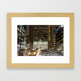 Grand Central at Night Framed Art Print