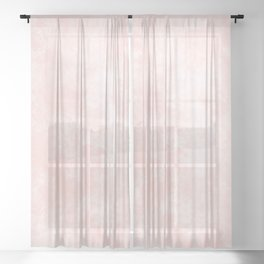 Pink Coral Marble Sheer Curtain