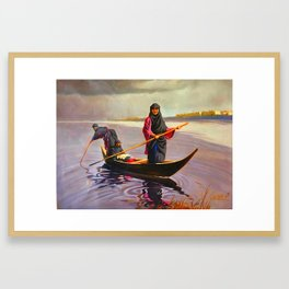 The iraqi Marshlands Framed Art Print