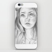 amy pond iPhone & iPod Skins featuring amy pond  by Jill Schell