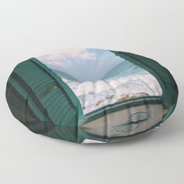 Atlantic Morning Floor Pillow