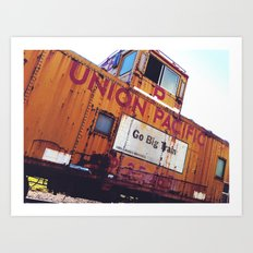 the union pacific caboose Art Print