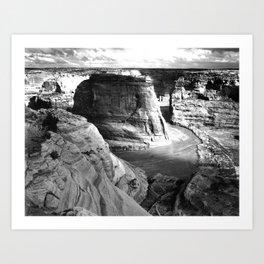 Vintage Landscape : Canyon de Chelly National Monument, Arizona Art Print