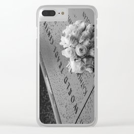 White Roses at the WTC Memorial Clear iPhone Case