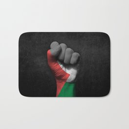 Palestinian Flag on a Raised Clenched Fist Bath Mat