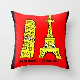 Ilean and Eiffle Throw Pillow