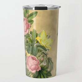 Heirloom Rose Bouquet Travel Mug