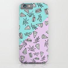 Burgers Pizza Fries in Pastel  iPhone 6s Slim Case