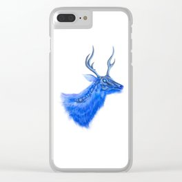 X-Ray Robo Deer // Space Antlers Clear iPhone Case