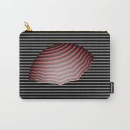 Grey and Black Stripes w/Red and Black Umbrella Carry-All Pouch
