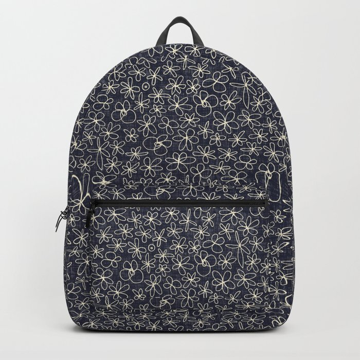 garland flowers cobalt Backpack