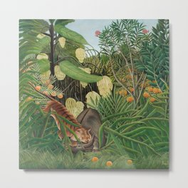 Fight between a Tiger and a Buffalo, Henri Rousseau, 1908 Metal Print