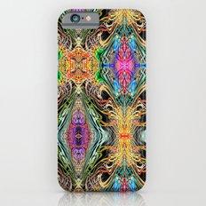 Neon Pinstripes 2 D Slim Case iPhone 6s
