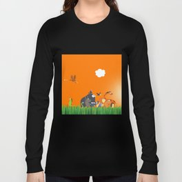 What's going on in the jungle? Kids collection Long Sleeve T-shirt