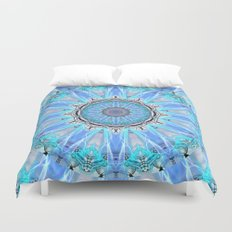 Sapphire Ice Flame, Light Bright Crystal Wheel Duvet Cover