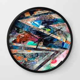 Triangle Forest Abstract Rainbow Wall Clock