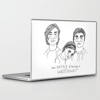 the perks of being a wallflower Laptop & iPad Skins featuring The Perks of Being a Wallflower by ☿ cactei ☿