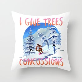 Snowboard Steve - I give trees concussions Throw Pillow