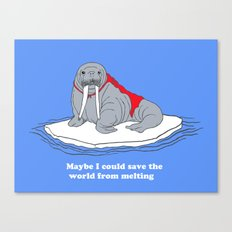 maybe i could save the world from melting Canvas Print