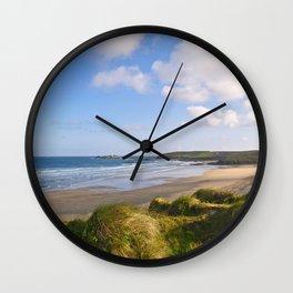Gwithian Beach, Cornwall Wall Clock
