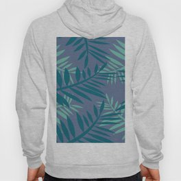 Big Fern Leaves blue Hoody