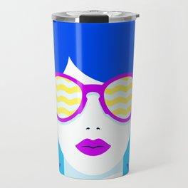 Sunglasses babe Travel Mug