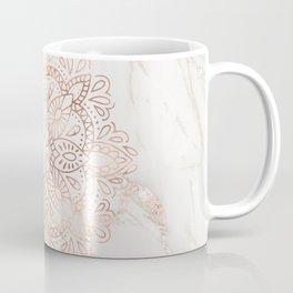 Rose Gold Mandala Marble Coffee Mug