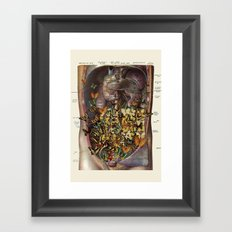 feeling fluttery anatomical collage by bedelgeuse Framed Art Print