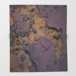Rust on Rust rustic decor Throw Blanket