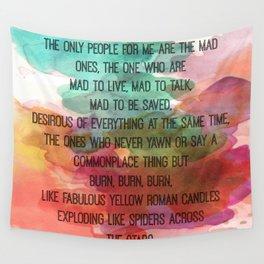Kerouac Watercolour: Wall Tapestry